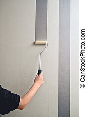 Painting a wall