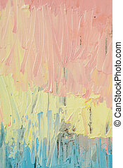 Painting abstract with oil paints
