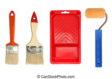 Painting accessories - Isolated painting tools