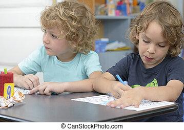 Painting at Kindergarten