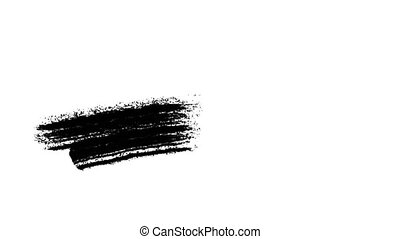 Painting Black Brush Grunge background for titles or other...