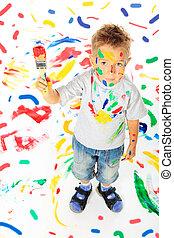 painting boy