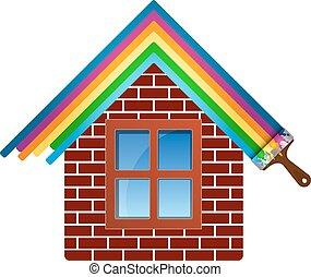 Painting brick house