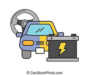 painting car battery automotive service