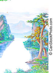 Painting Chinese style
