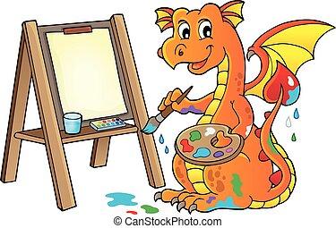 Painting dragon theme image 2