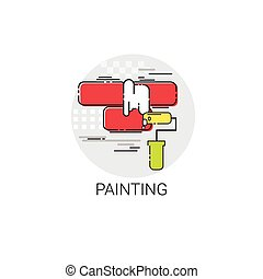 Painting Equipment Tool House Interior Renovation Icon