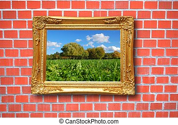 painting in image frame