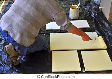 Painting Kitchen Cabinet Doors - One of best ways to paint...