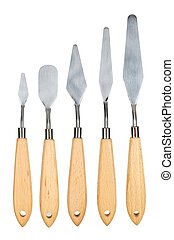 Painting knife isolated - Set of painting knife isolated on...
