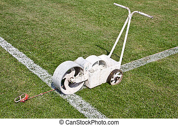 Painting lines football