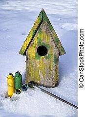 Painting Nesting Box