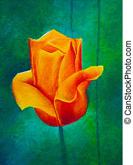 Painting of a tulip