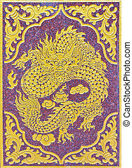 painting of chinese dragon
