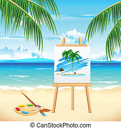 Painting of Sea Beach
