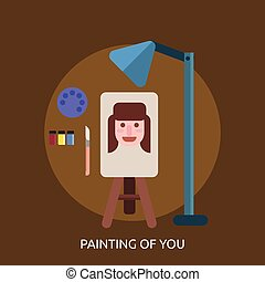 Painting Of You Conceptual illustration Design