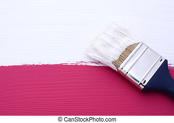 Painting pink surface with white paint