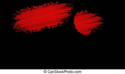 Painting Red Brush Grunge background for titles or other...