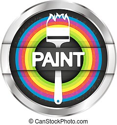 Painting symbol illustration
