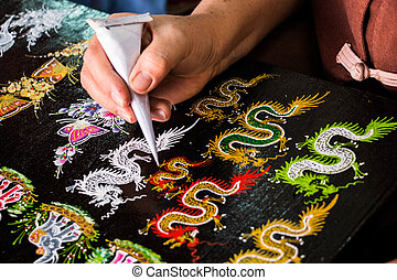 Painting Thailand pattern