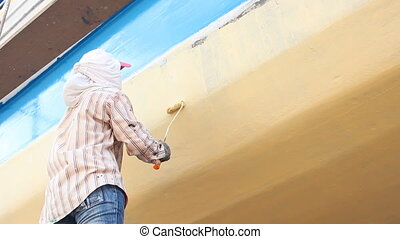 Painting the boat