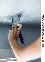 Painting the Edges of the Ceiling