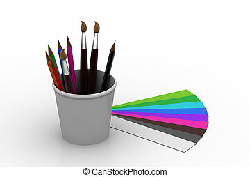 Painting tools with colors