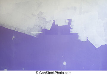 painting white on purple