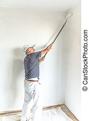 Painting white wall