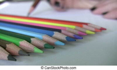 Painting with colored pencils