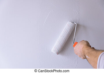 Painting With White Paint.