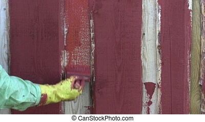 painting wooden plank farm  house