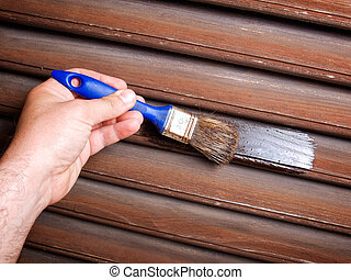 Painting woodwork