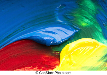 paints., 混合, 背景