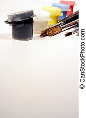 Paints and brushes - Paint tubes and paintbrushes