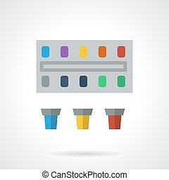Paints flat color vector icon