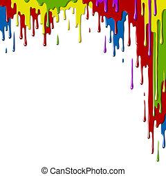 Paints - Smudges paint of different colors