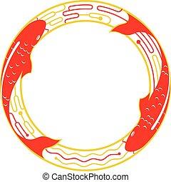 Doppio carpa disegno felicit stile taglio for Carpa koi prezzo