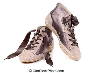 paio, scarpe tennis, moda