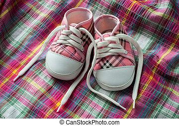 paio, scarpe tennis, tessuto, colorito