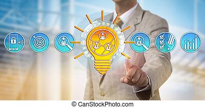 pair, gestion réseau, idée, offrande, promoteur