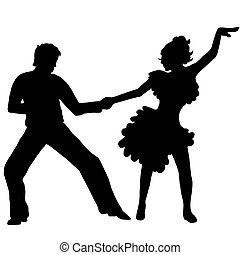 Pair latino dance