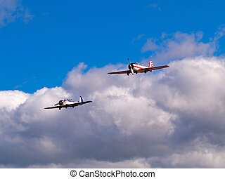 pair of aircrafts