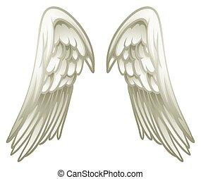 Pair of angel wings illustration