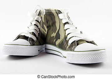 Pair of baseball boots - A pair of camouflage baseball boots...