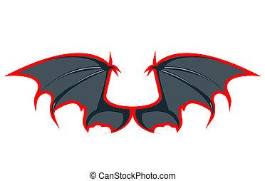 Pair of bat wings