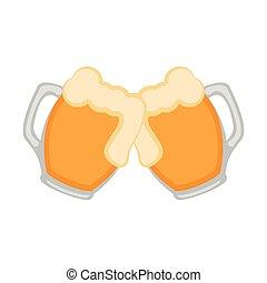 Pair of beer mugs icon