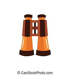 Pair Of Bicnoculars, Camping And Hiking Outdoor Tourism Related Item Isolated Vector Illustration