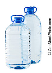 Pair of big water bottles