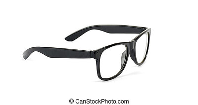 Pair of black eyeglasses